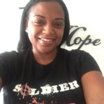 Women's Soldier of Love flagship t-shirt(Black). All t-shirts are 100 percent cotton.